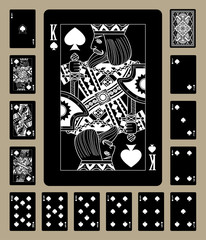 Spades suit black playing cards
