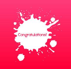 congratulations, text illustration