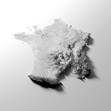 carte de france topologique