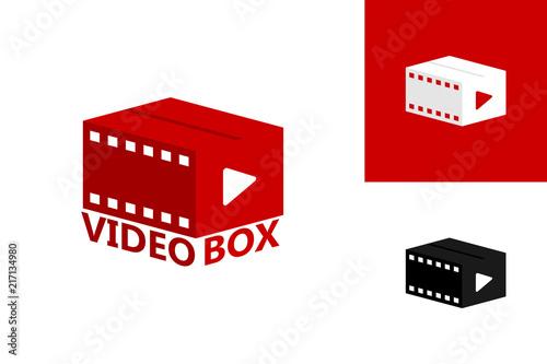 Video Box Logo Template Design Vector, Emblem, Design Concept ...