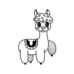 Doodle llama character