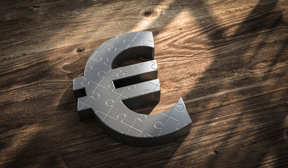 3D Illustration Eurosymbol