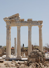 ruins of the ancient temple Side Turkey