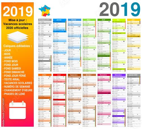Vacances 2020 Officielles Calendrier 2019 Sur 14 Mois