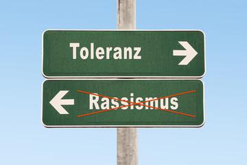 Schild 325 - Rassismus