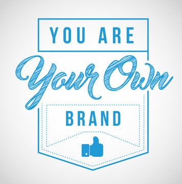 you are your own brand stamp seal illustration