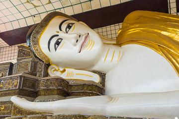 The Shwethalyaung Buddha, reclining Buddha in the west side of Bago, Myanmar.