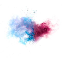 Colorful powders on white  background
