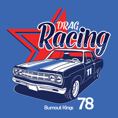 Drag Racing vector t-shirt graphic design