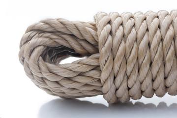 extrémité de cordage roulé