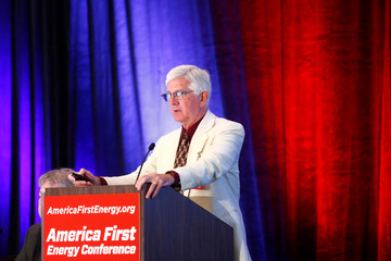 Roy Spencer during the America First Energy Conference 2018 in New Orleans