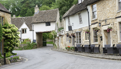 Quaint village of Castle Combe in the Cotswolds, Wiltshire, England