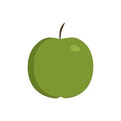 Green apple icon in flat design