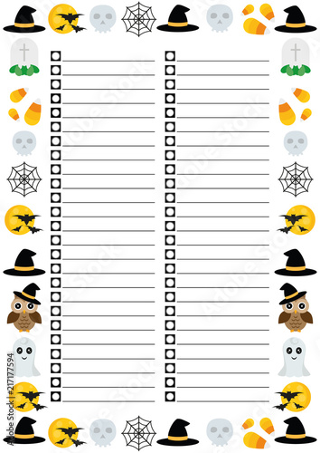 halloween to do list with interesting halloween border preparing to