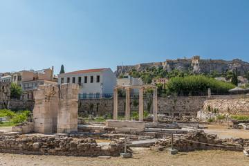 Bibliothèque d'Hadrien à Athènes