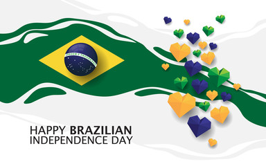 happy brazilian independence day with creative design