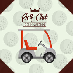 car golf club tournament ball background vector illustration