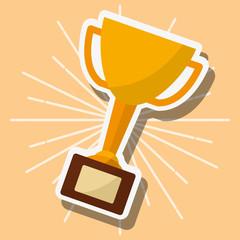 trophy award winner success image vector illustration vector illustration