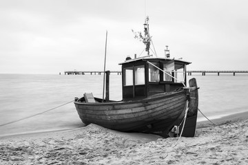 Old and typical fishing boat