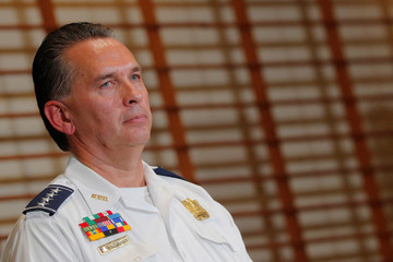 Metropolitan Police Department Chief Peter Newsham listens to a question from reporters in Washington