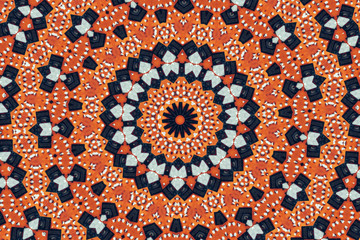 Psychedelic kaleidoscopic pattern