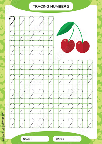Numbers 0-9. Tracing Worksheet for kids. Preschool worksheet ...