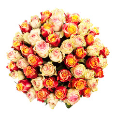 bouquet of fresh colorful roses