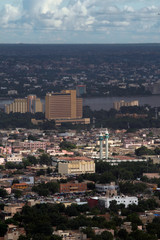 A general view of the city of Bamako pictured from the point G in Bamako
