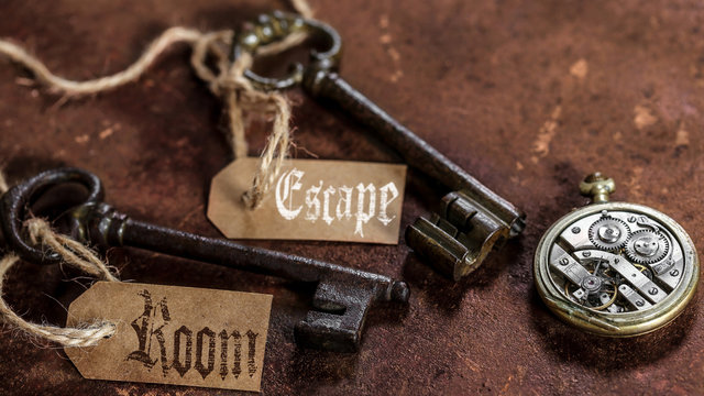 escape room (fond rouille)