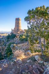 Stone Watchtower on Canyon Rim