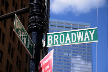 Broadway street signalization, New York