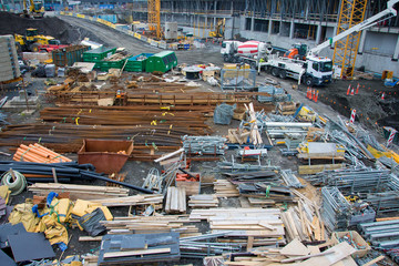 A cargo of materials at a construction site