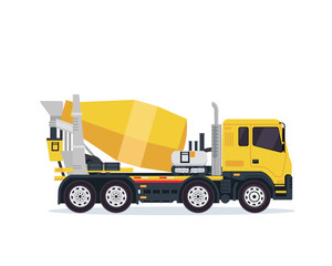 Modern Cement Mixer Truck Illustration Vehicle