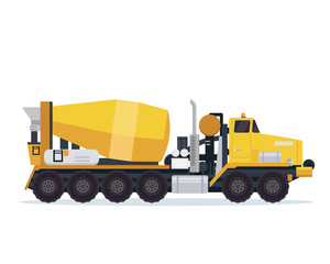 Modern Cement Mixer Truck Illustration Vehicle