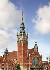 Gdansk main train station. Poland