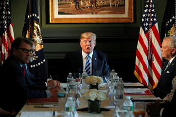 U.S. President Donald Trump participates in a roundtable discussion with state leaders on prison reform in Berkeley Heights, New Jersey