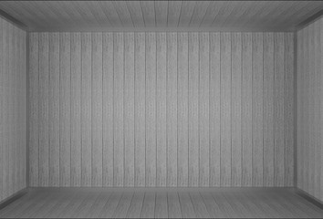 3d rendering. vintage dark gray old wood panels wall background.
