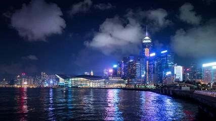Fotomurales - Hong Kong island, hyper lapse