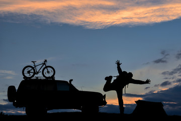 off-road vehicle, cycling, camping and enthusiastic living