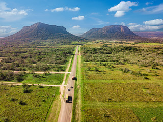 Foto auf Gartenposter Luftaufnahme Aerial view of Cerro Paraguari. These Mountains are one of most iconic landmarks in Paraguay.