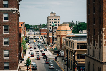 Wall Mural - Galena Boulevard and the Paramount Theater in Aurora, Illinois