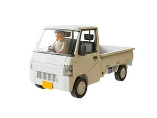 軽トラックとドライバー