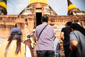 Ayutthaya Historical Park at WatyaichaimongkProvince, Thailand