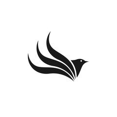 Bird Flat Logo Template Design