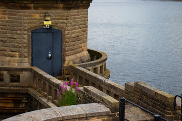 The pump house at the dam at ladybower reservoir