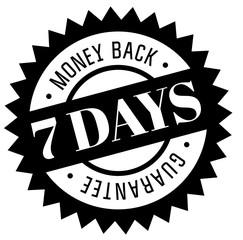seven days money back guarantee stamp