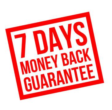 seven days money back guarantee stamp