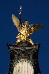 The angel like statue at the top of the peace monument in Munich shall resemble the greek goddess of victory Nike