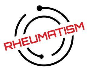 Rheumatism stamp on white