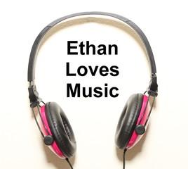 Ethan Loves Music Headphone Graphic Original Design